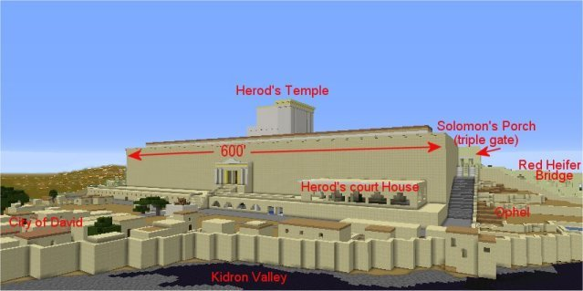 Herod's Temple viewed from south east.