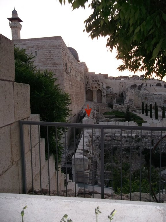 southwest corner Temple Mount