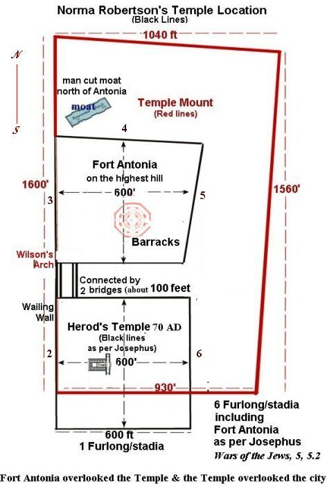 Herod's Temple and Fort Antonia